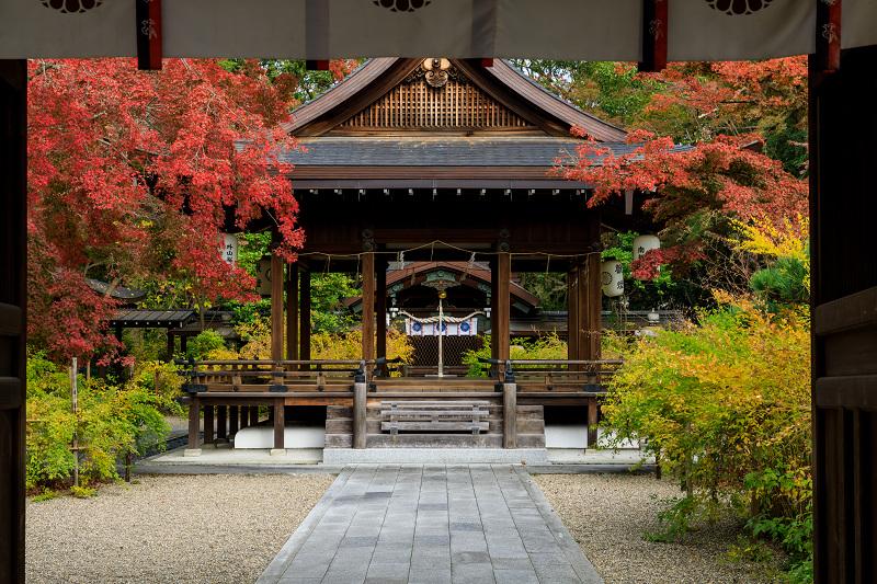 京の紅葉2018 梨木神社・紅葉と萩の紅葉_f0155048_23575436.jpg