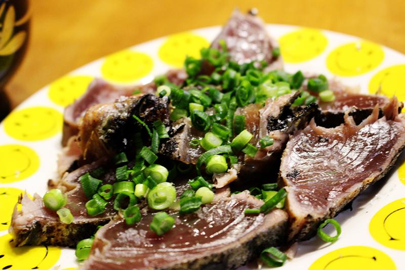 藁焼き塩タタキ定食。_a0139912_18135327.jpg