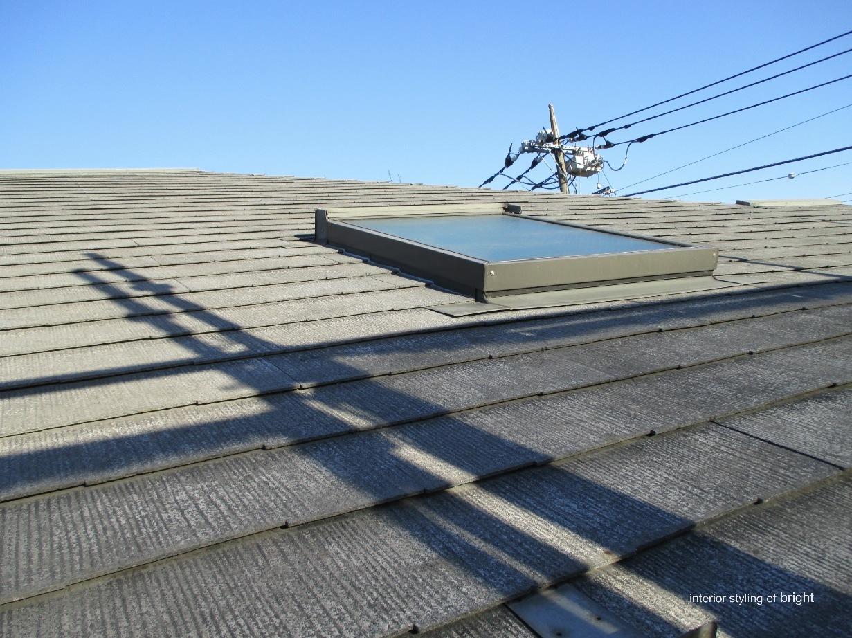 屋根外壁塗装 高圧洗浄と屋根塗装 オーダーカーテン・輸入壁紙のブライト_c0157866_14540424.jpg