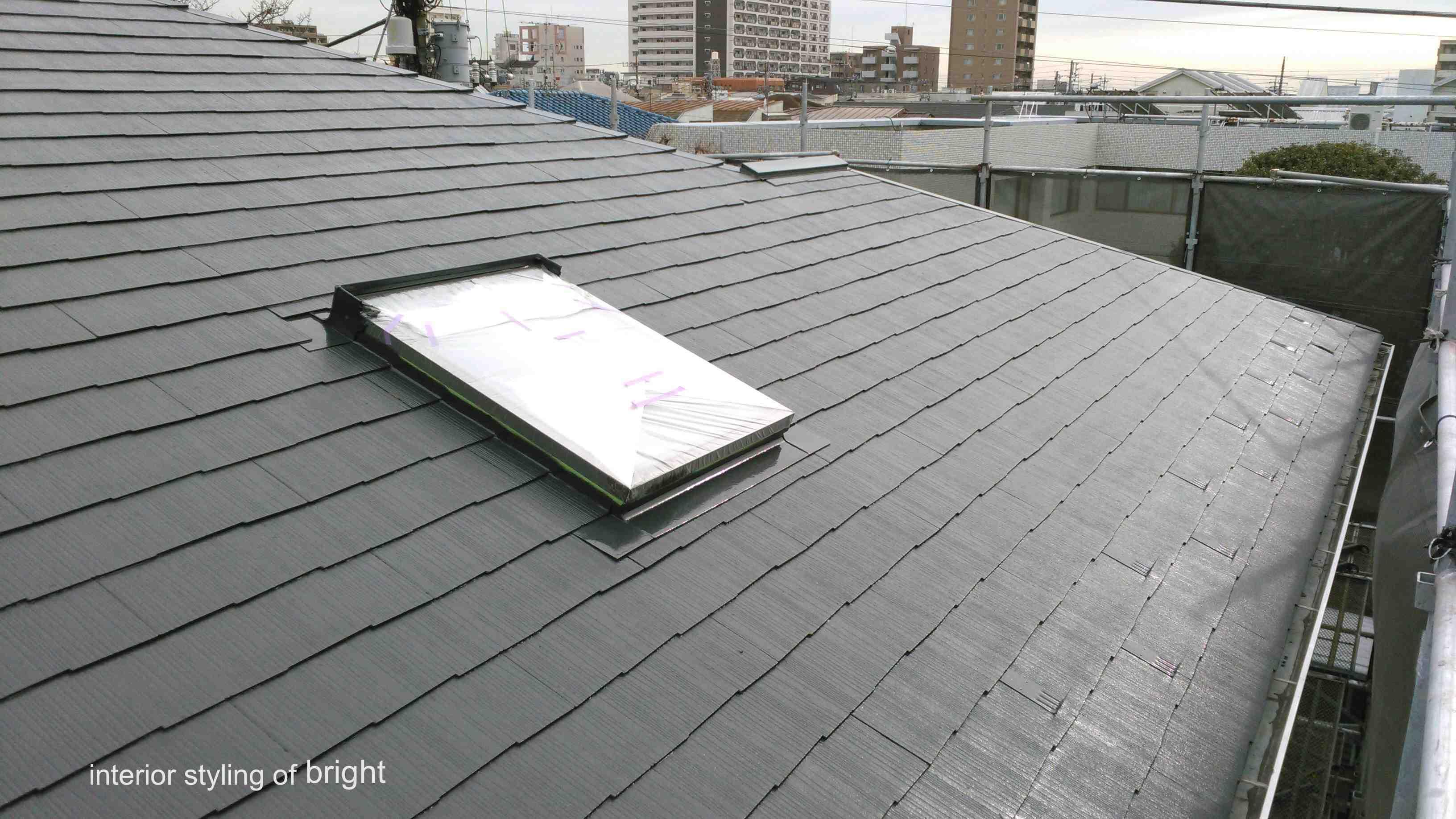 屋根外壁塗装 高圧洗浄と屋根塗装 オーダーカーテン・輸入壁紙のブライト_c0157866_14543558.jpg