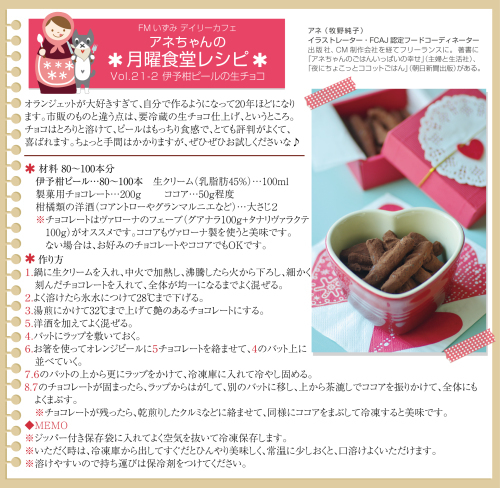 Daily Cafe(月)トピックライブラリー「アネちゃんの月曜食堂」_d0029276_11083997.jpg