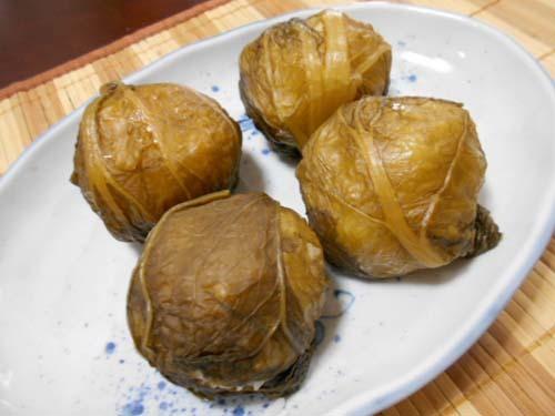 鶏むね肉チャーシュー&山形青菜漬(せいさい)のおにぎり_f0019498_19112483.jpg