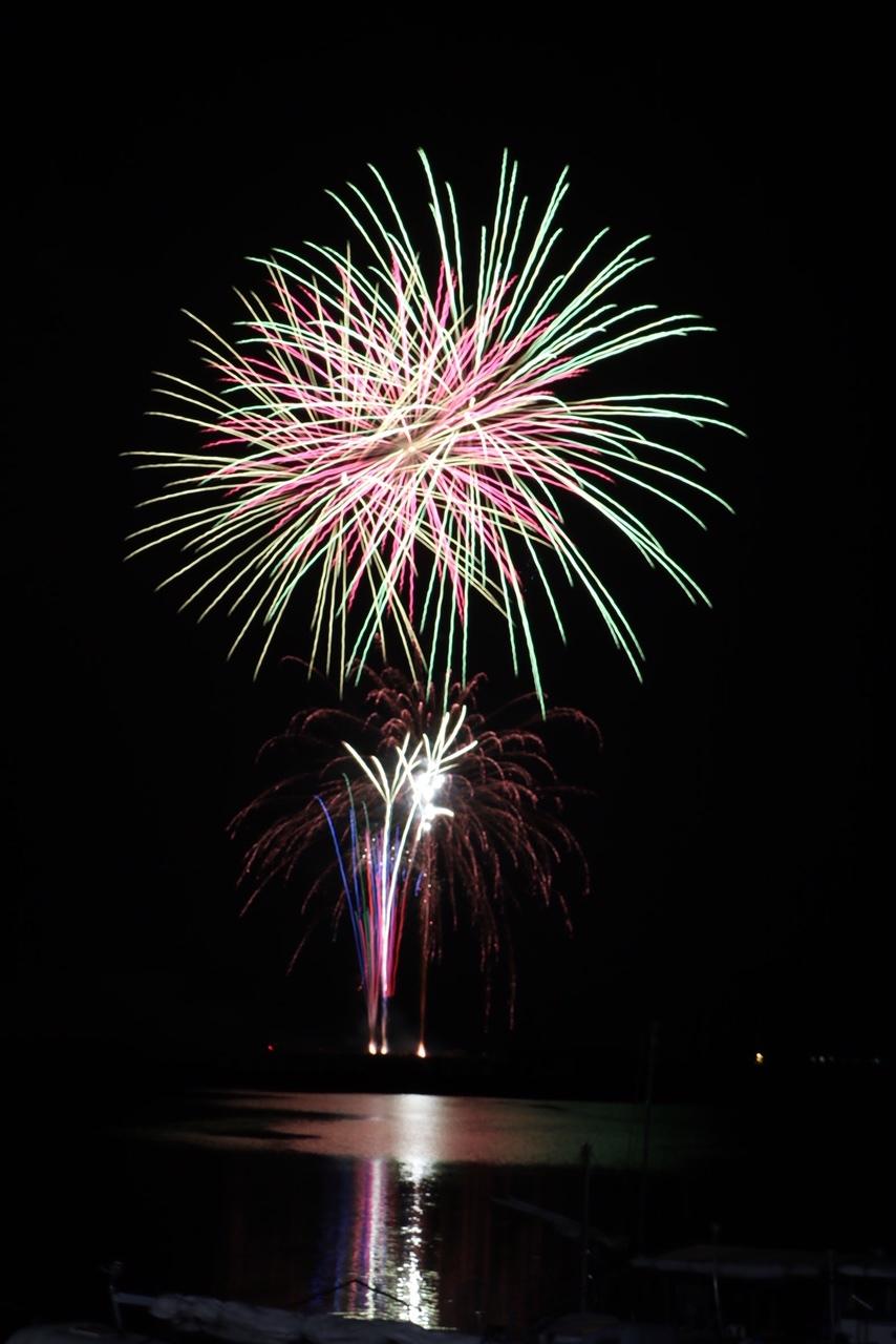 ゆめ花火が冬の空に上がった_e0175370_08472505.jpg