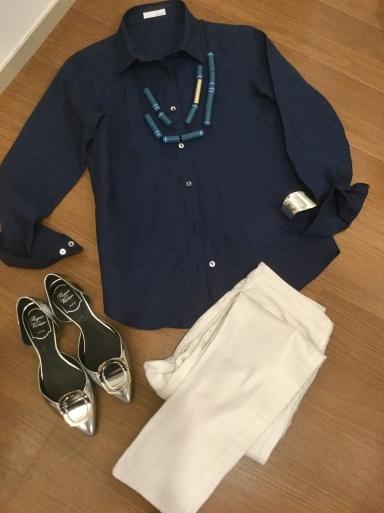 「麻シャツのネイビー」をどう着る?…②_b0210699_22091592.jpeg