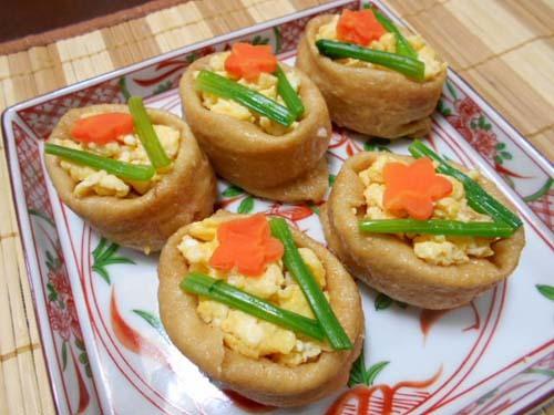 飾りいなり寿司&ささみのチーズ焼き_f0019498_21583477.jpg