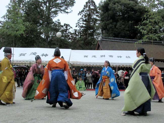 建国記念日 上賀茂神社けまり_e0048413_21435586.jpg