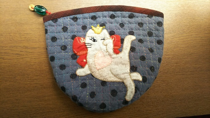 招き猫のポーチ完成です♪_f0374160_21092976.jpg