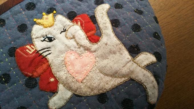 招き猫のポーチ完成です♪_f0374160_21143123.jpg