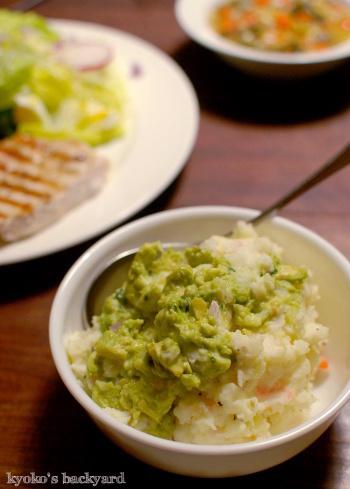 しましまチキンのせ大盛りサラダ&具だくさんスープ_b0253205_05500687.jpg