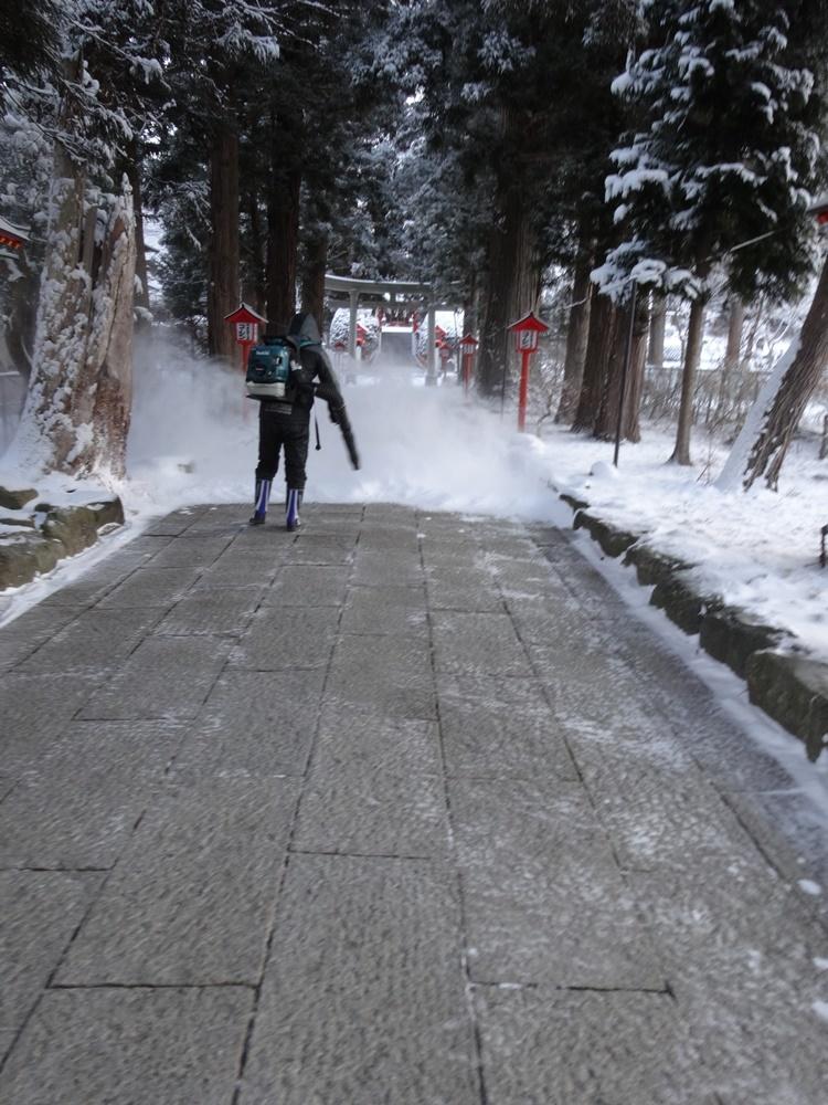 今シーズン一番の積雪_c0111229_18464364.jpg