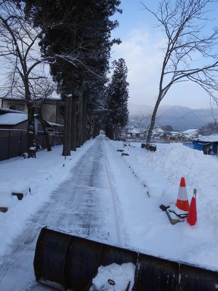 今シーズン一番の積雪_c0111229_18473135.jpg