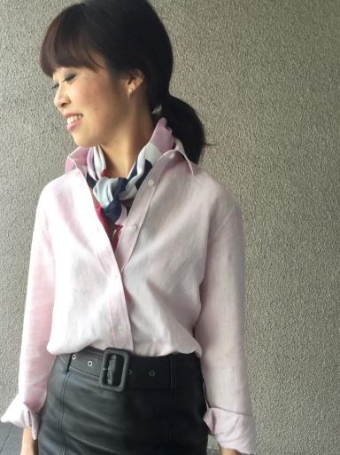 「麻シャツのピンク」をどう着る?…②_b0210699_22374997.jpeg
