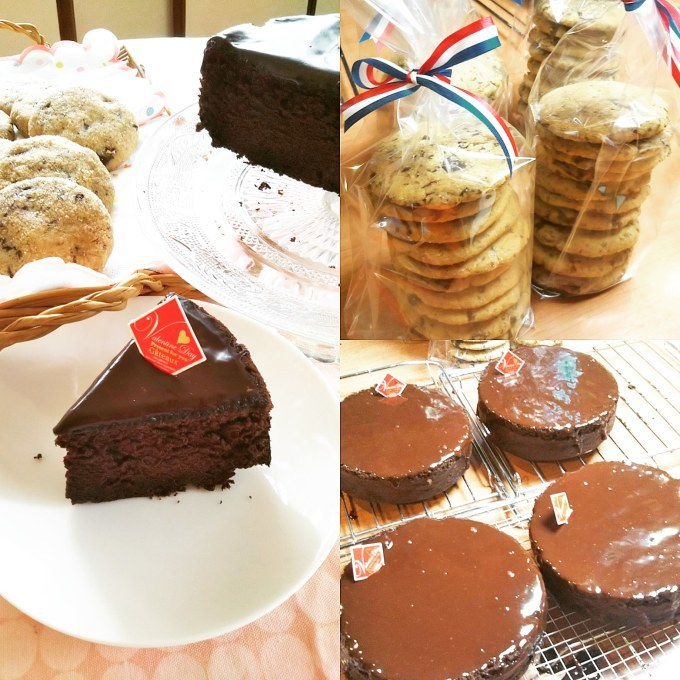 デビルスフードケーキとチョコチップクッキー_d0138307_21314840.jpg