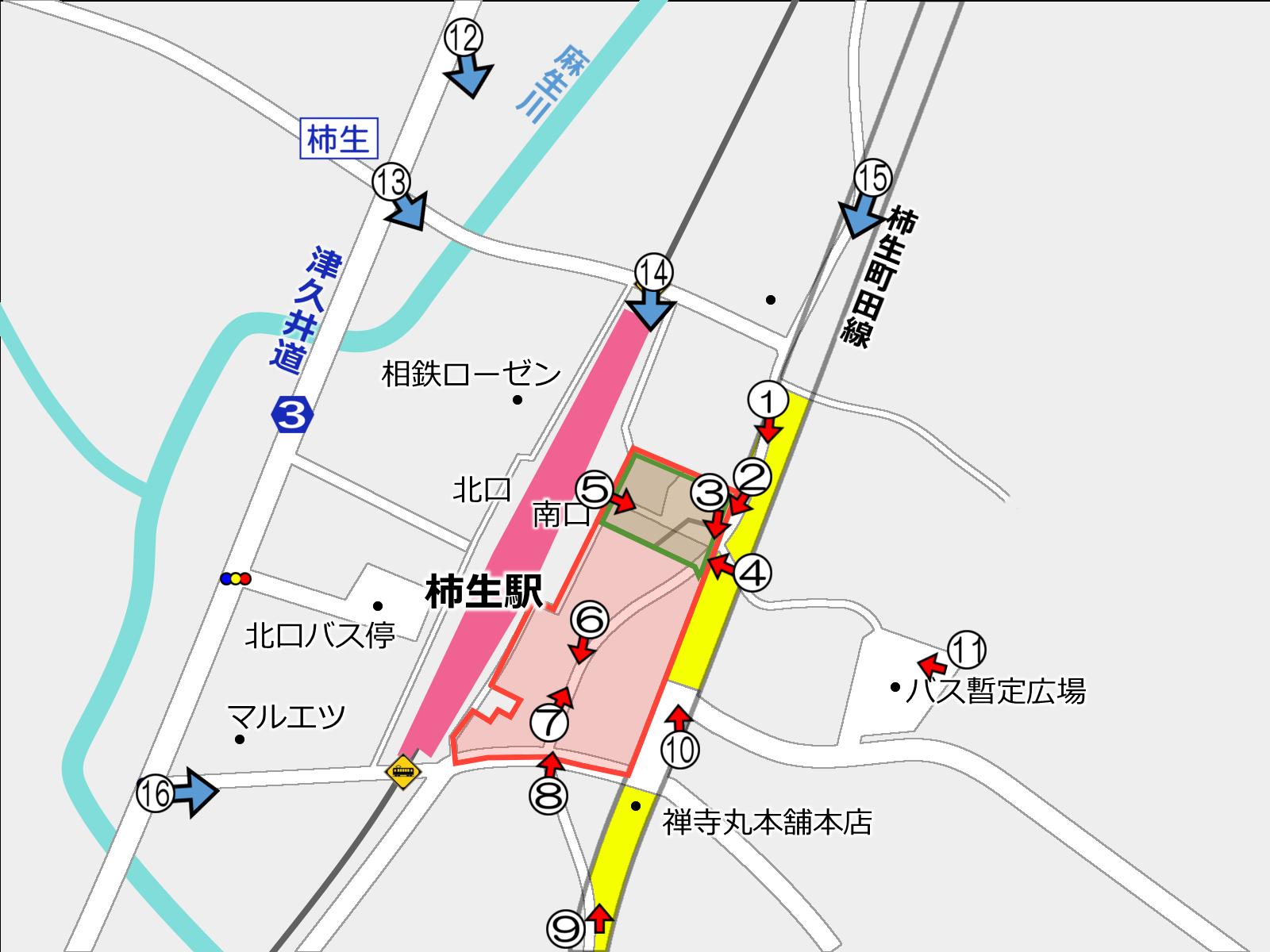 柿生駅南口再開発が始動 駅前に30階建て高層ビル建設へ 着手前の状況_a0332275_02340218.png