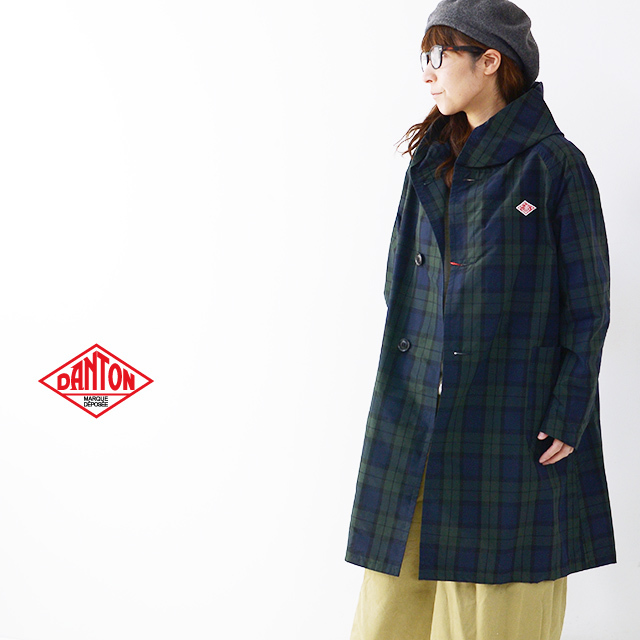 DANTON [ダントン] W\'s NYLON TAFFETA CHECK SINGLE PARKA JACKET [JD-8739NPL] ナイロン タフタ パーカー ジャケット LADY\'S_f0051306_17030407.jpg