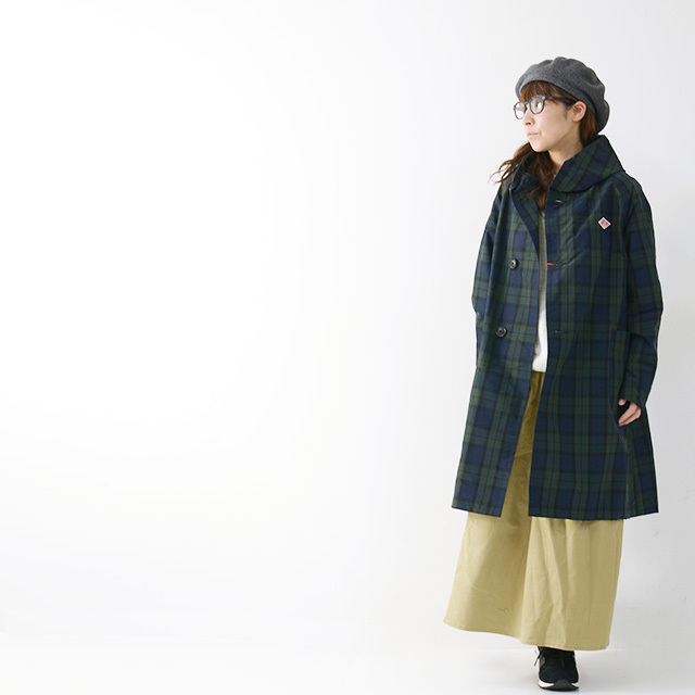 DANTON [ダントン] W\'s NYLON TAFFETA CHECK SINGLE PARKA JACKET [JD-8739NPL] ナイロン タフタ パーカー ジャケット LADY\'S_f0051306_17032001.jpg