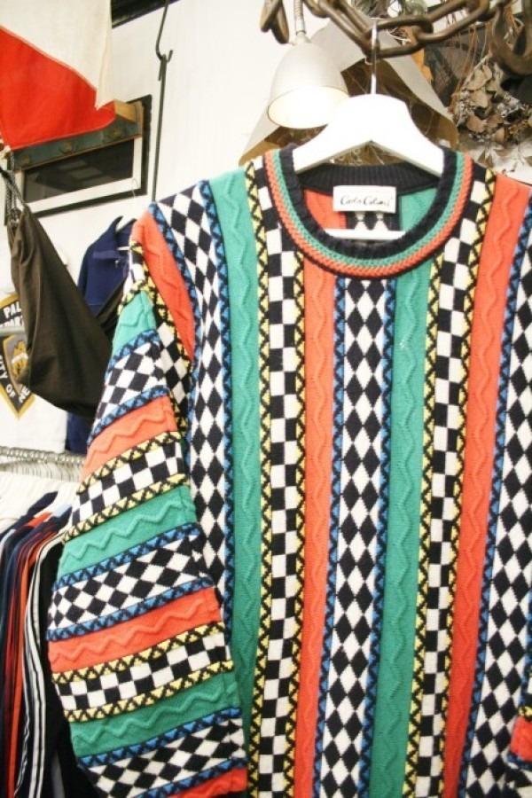 蚤の市打ち上げに交ざったけど、全然打ち上げ感はなかった 入荷メンズセーター うるさいセーターと静かなセーター_f0180307_22214454.jpg