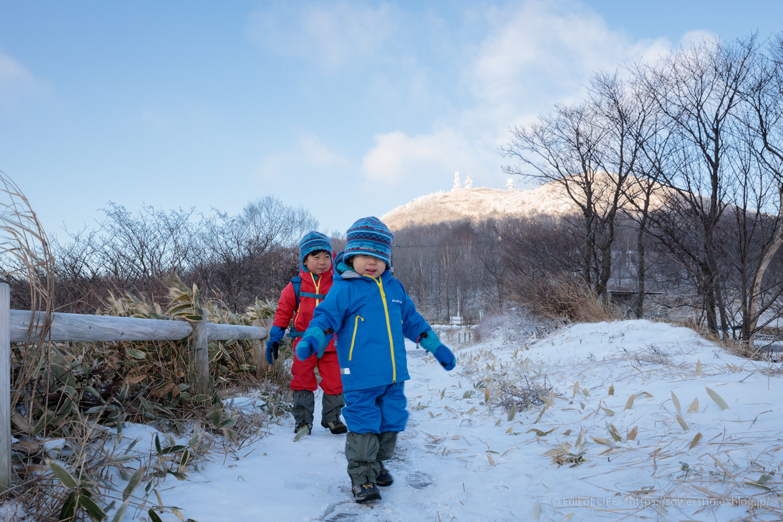 ちびっ子兄弟の雪山チャレンジ「赤城山」長七郎山へ_c0369219_08074729.jpg