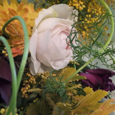 オークリーフ花の教室(落合さんと須藤さんの作品)_f0049672_19092674.jpg