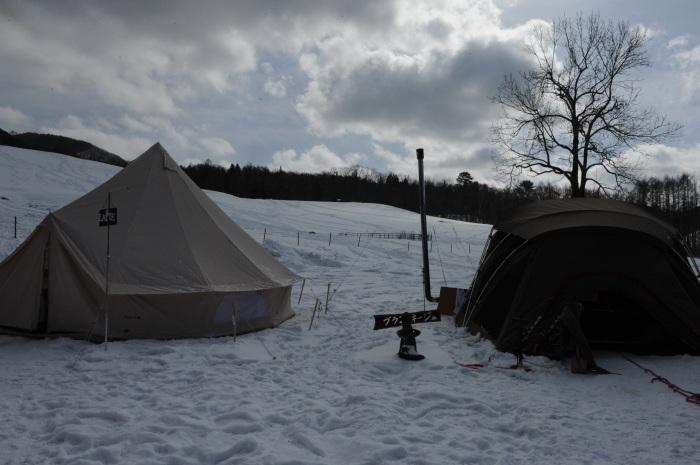 雪中キャンプ in一色の森キャンプ場 2_a0049296_18370781.jpg