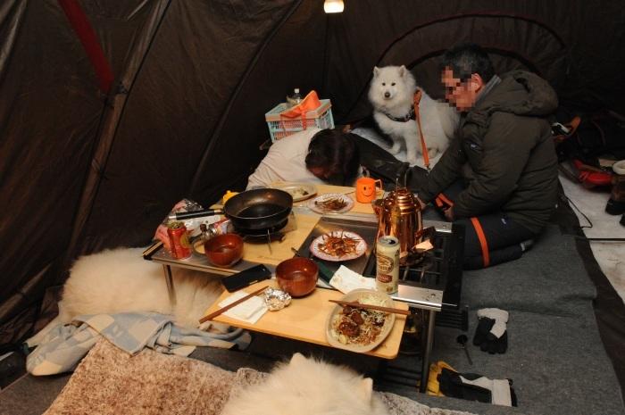 雪中キャンプ in一色の森キャンプ場 2_a0049296_18461770.jpg