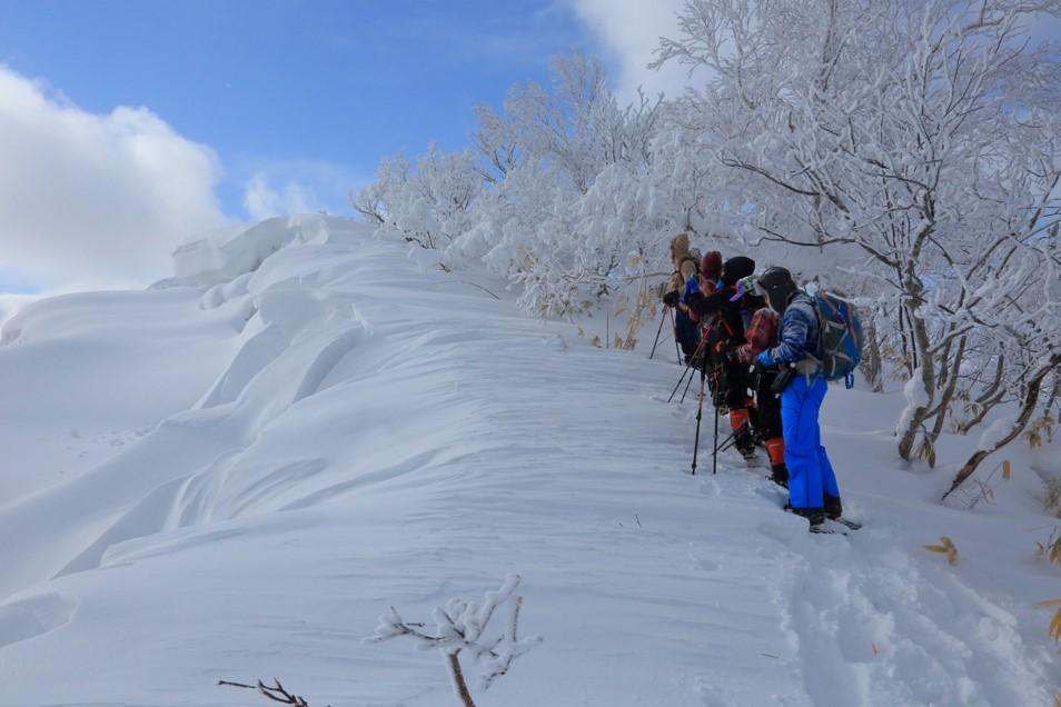 白老岳と白老岳、2019.2.9ー同行者からの写真ー_f0138096_13484293.jpg