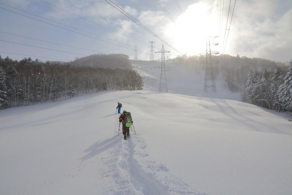 白老岳と白老岳、2019.2.9ー同行者からの写真ー_f0138096_13485399.jpg