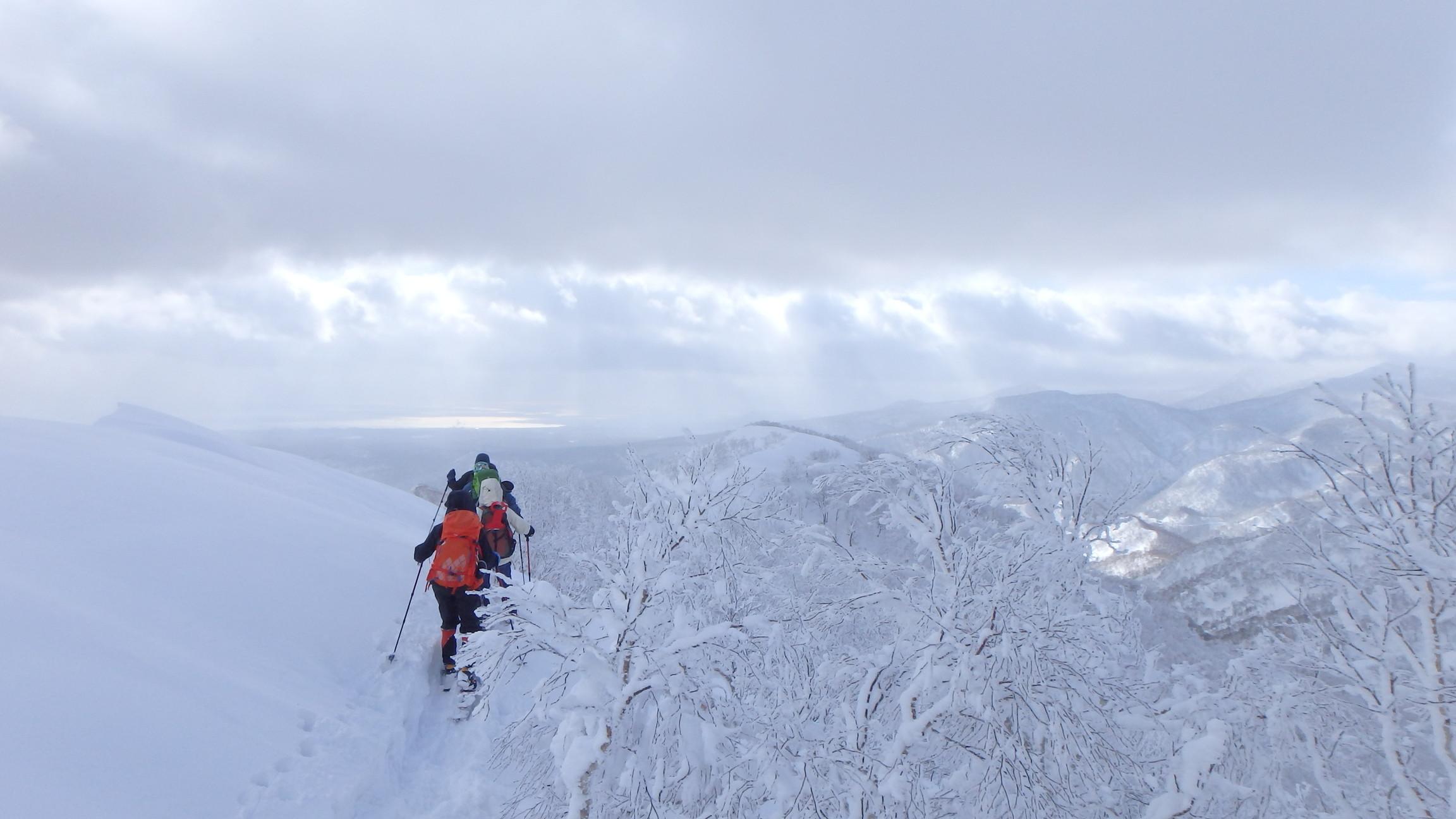 白老岳と白老岳、2019.2.9ー同行者からの写真ー_f0138096_13494254.jpg