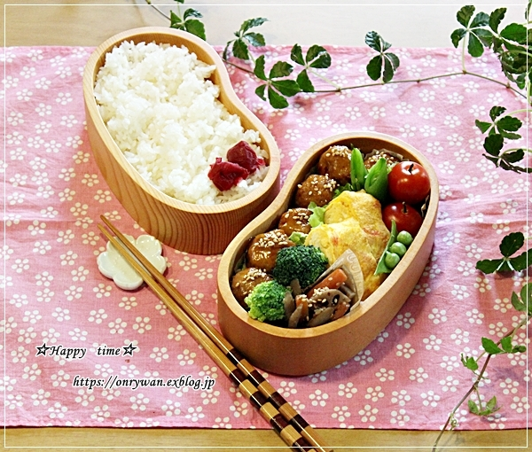 肉団子甘酢餡弁当と今夜のおうちごはん♪_f0348032_18003748.jpg