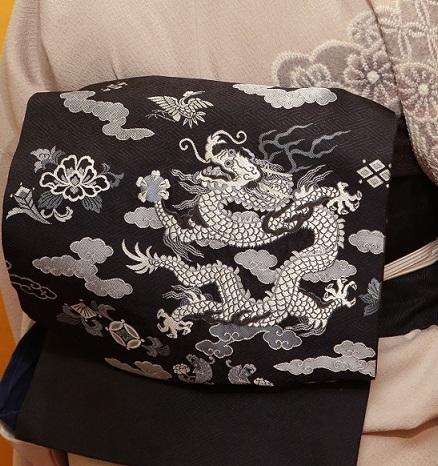 10周年・絞りの着物に龍の帯・お客様の雪だるまコーデ_f0181251_168892.jpg