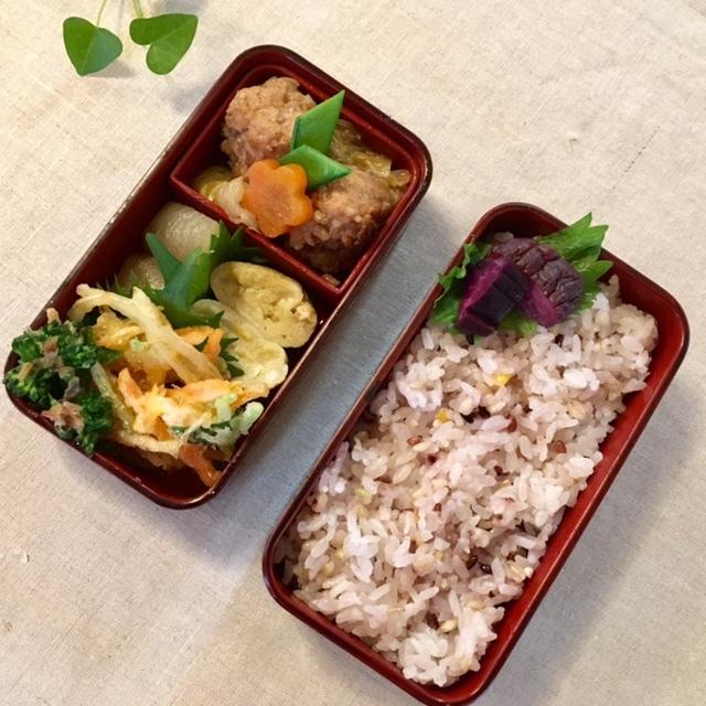 lunch box  × 4 ごはんも色々考えて_a0165160_18454473.jpg