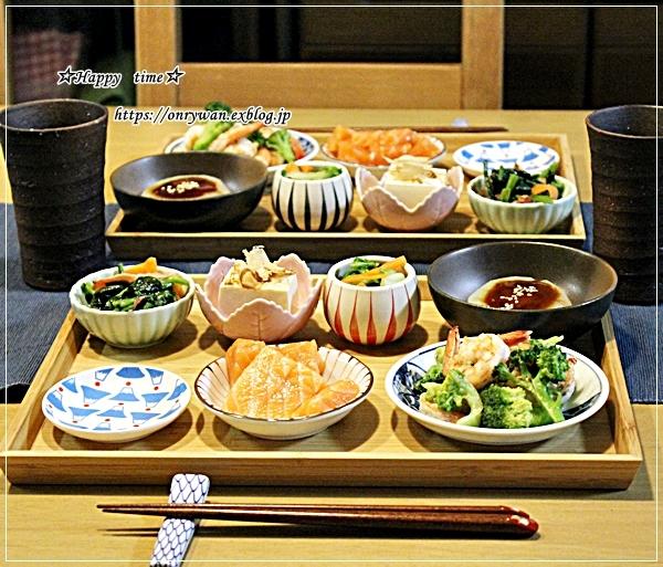 牛肉ブロッコリーしめじの柚子胡椒炒め弁当とおうち居酒屋♪_f0348032_18230917.jpg
