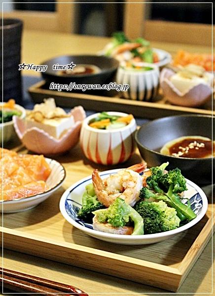 牛肉ブロッコリーしめじの柚子胡椒炒め弁当とおうち居酒屋♪_f0348032_18231614.jpg