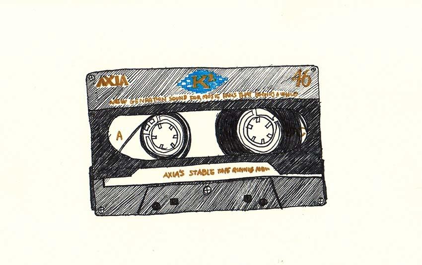 2本だけ残してあるカセットテープ イラスト Yukaiの暮らしを愉しむヒント