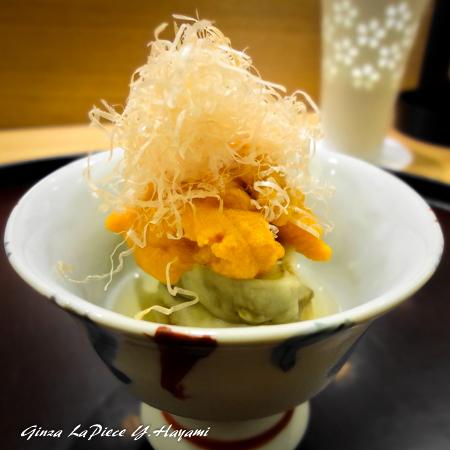 料理の風景 雲丹と茄子_b0133053_00013905.jpg
