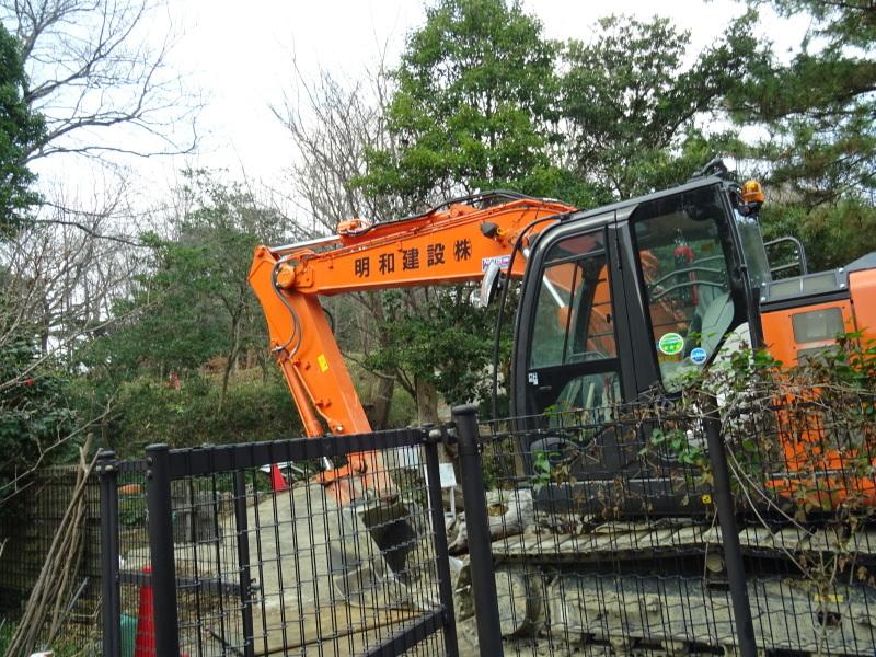 災害復旧工事開始&間伐・・・うみべの森_c0108460_16274108.jpg
