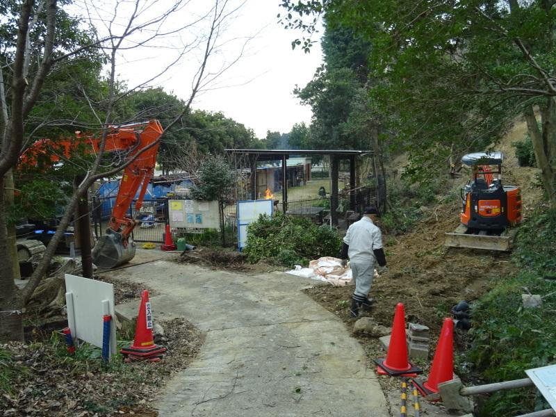 災害復旧工事開始&間伐・・・うみべの森_c0108460_16293276.jpg