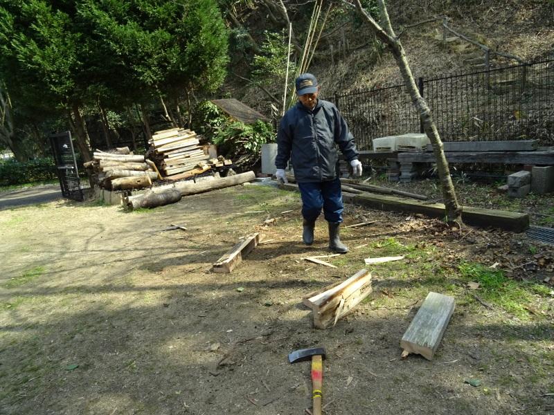 災害復旧工事開始&間伐・・・うみべの森_c0108460_16361425.jpg