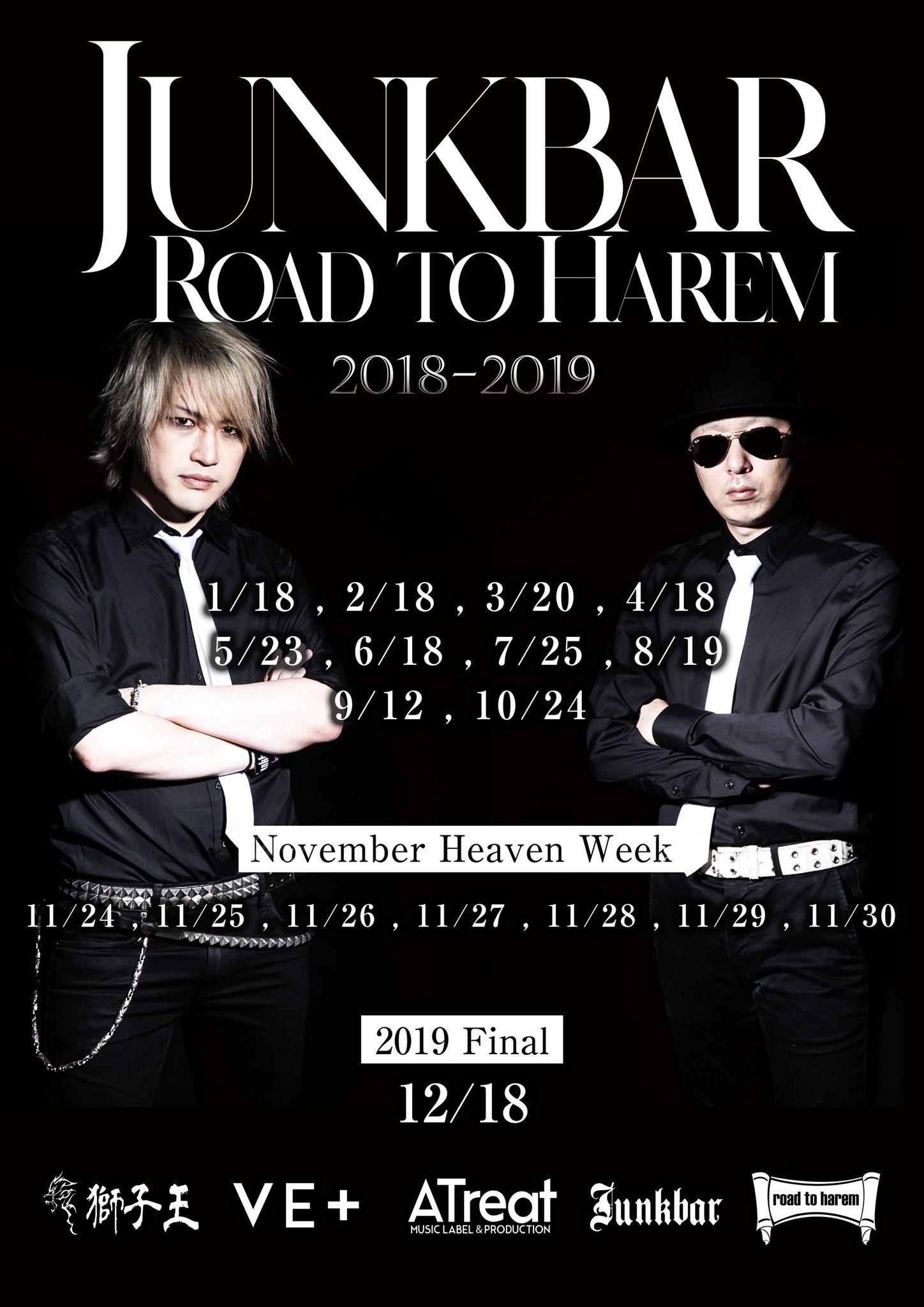 Junkbar presents Road to Harem〜明日18 巣鴨 20:25〜_c0162963_20595319.jpg