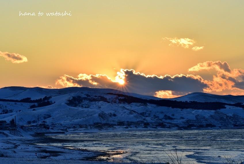 冷たい空気と夕陽_e0120026_08255476.jpg