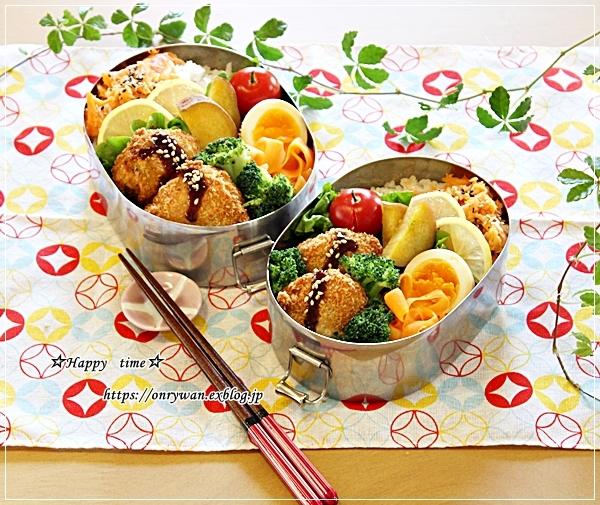 じゃがいもコロッケ弁当とパン焼き・2種類♪_f0348032_17443384.jpg