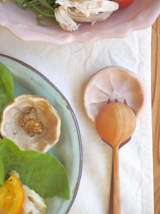 鶏のオレンジソースの朝ごはん_b0277136_09040364.jpeg