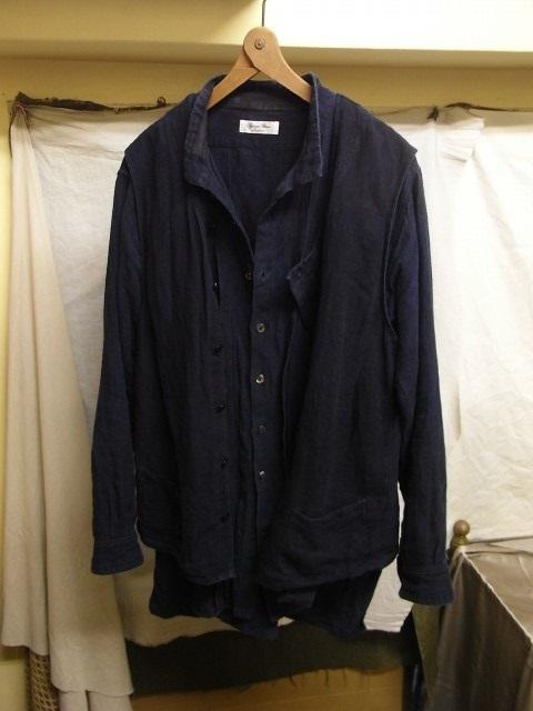 たまんね~なぁ / french victorians heavylinen shirt , da frenchwork heavylinen vest_e0130546_17032441.jpg