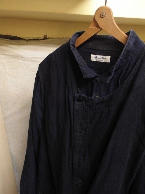たまんね~なぁ / french victorians heavylinen shirt , da frenchwork heavylinen vest_e0130546_17033809.jpg