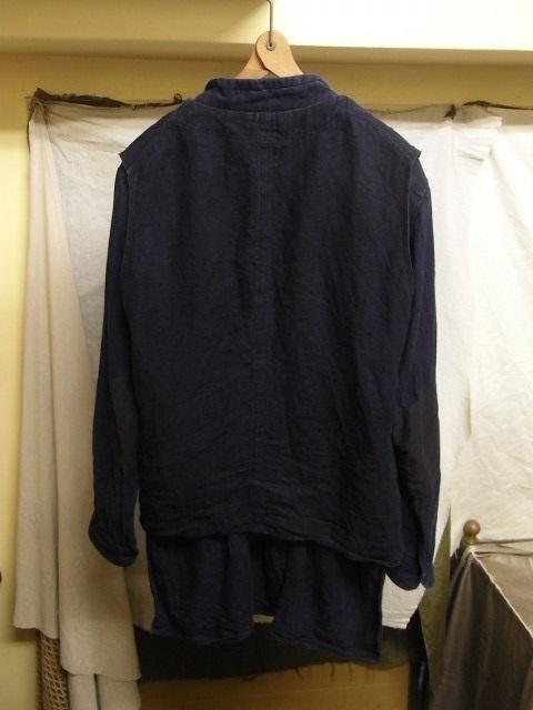 たまんね~なぁ / french victorians heavylinen shirt , da frenchwork heavylinen vest_e0130546_17043120.jpg