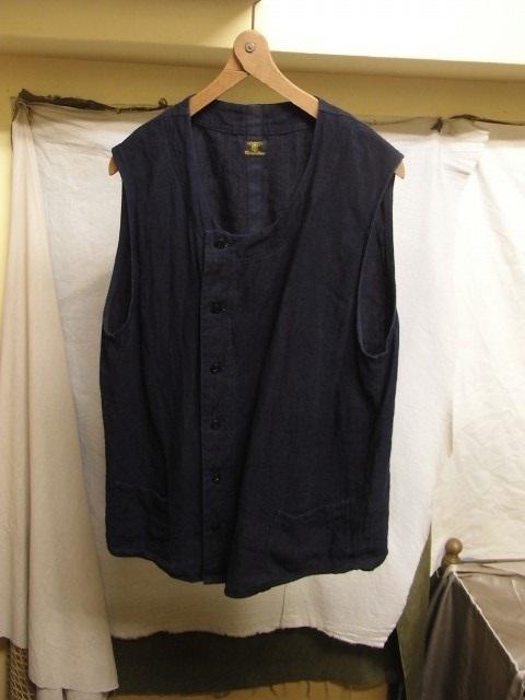 たまんね~なぁ / french victorians heavylinen shirt , da frenchwork heavylinen vest_e0130546_17060991.jpg