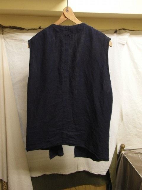 たまんね~なぁ / french victorians heavylinen shirt , da frenchwork heavylinen vest_e0130546_17062048.jpg