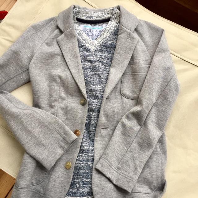 ウールのテーラードジャケット×ライトパイルTシャツもありです♪  _d0108933_17463065.jpg