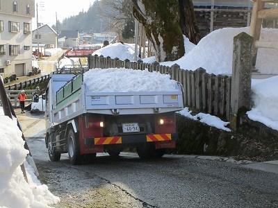 大祭雪不足~雪搬入_b0092684_15085399.jpg