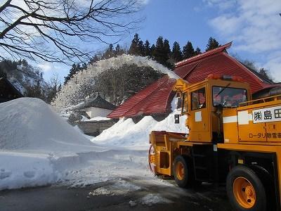 大祭雪不足~雪搬入_b0092684_15091919.jpg